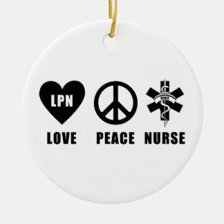 Krankenschwestern RN und LPN Keramik Ornament