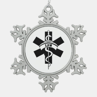 Krankenschwestern RN und LPN Schneeflocken Zinn-Ornament