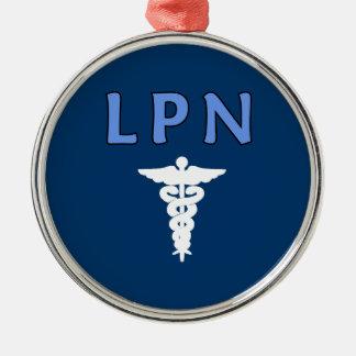 Krankenschwestern RN und LPN Silbernes Ornament