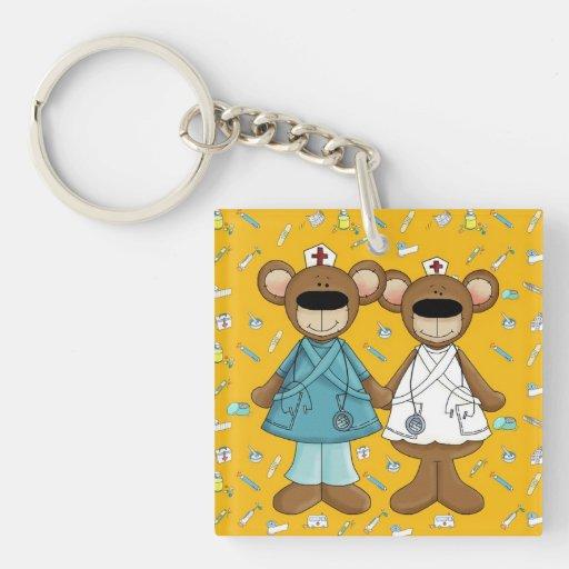 Krankenschwestern segnen vom Gott. Geschenk Beidseitiger Quadratischer Acryl Schlüsselanhänger