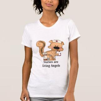 Krankenschwestern sind lebender Engels-T - Shirt