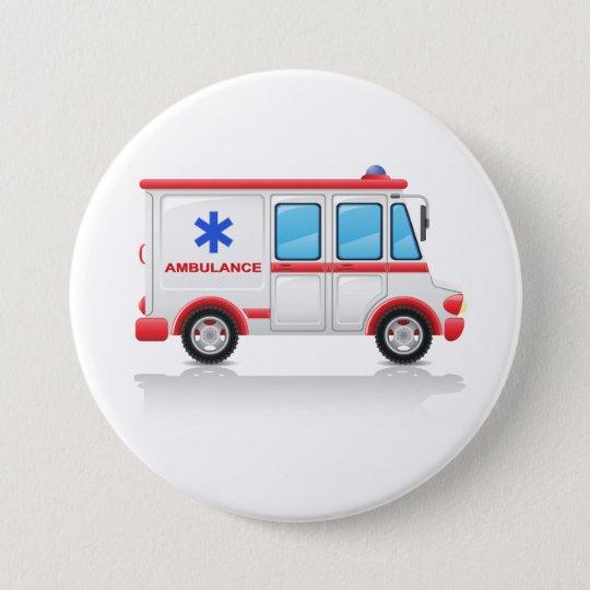 Krankenwagen-Knopf Runder Button 7,6 Cm