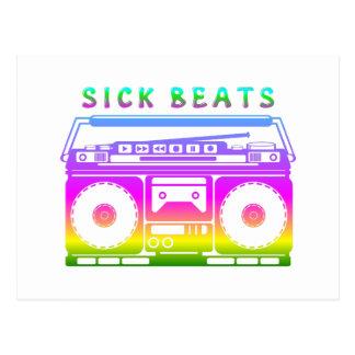 Kranker schlägt die Stereo Achtzigerjahre Postkarte