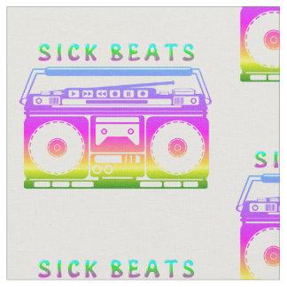 Kranker schlägt die Stereo Achtzigerjahre Stoff