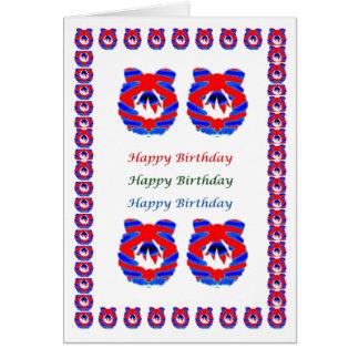 Kranz - HappyBirthday Geburtstag Karte