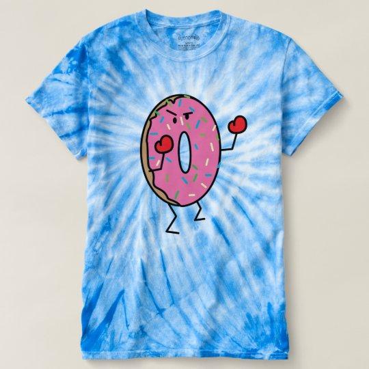 Krapfen-Boxer-Kämpfernachtisch briet Teigzucker T-shirt