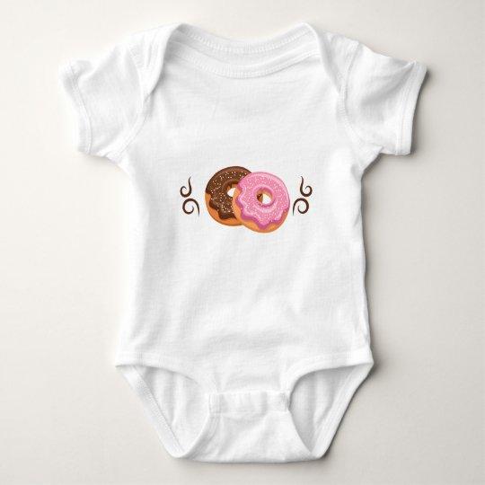 Krapfen gedruckt - Hipster-Entwurfs-Nahrung Baby Strampler