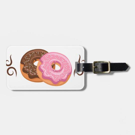 Krapfen gedruckt - Hipster-Entwurfs-Nahrung Gepäckanhänger