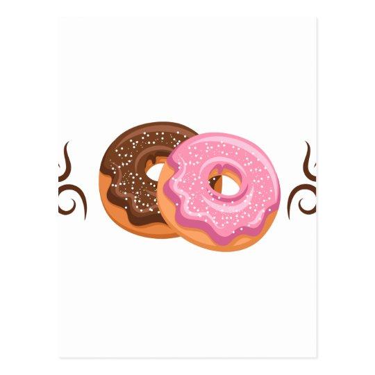 Krapfen gedruckt - Hipster-Entwurfs-Nahrung Postkarte