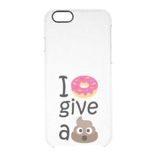 Krapfen I geben ein gekackte emoji Durchsichtige iPhone 6/6S Hülle