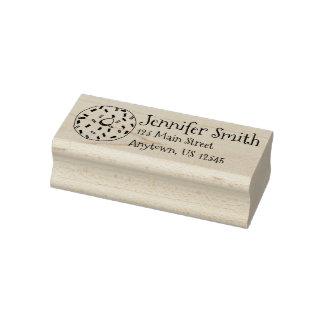 Krapfen-Krapfen mit besprüht Adressen-Etikett Gummistempel