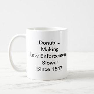 Krapfen-/Polizist-Geschichte Kaffeetasse