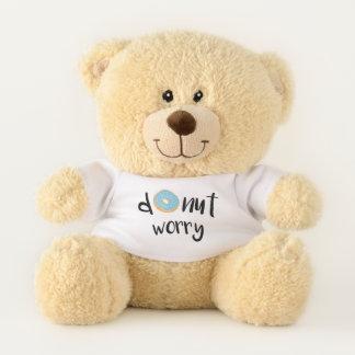 Krapfen-Sorge-Blau Teddybär