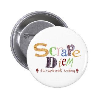 Kratzen Diem (Scrapbooking) Runder Button 5,7 Cm