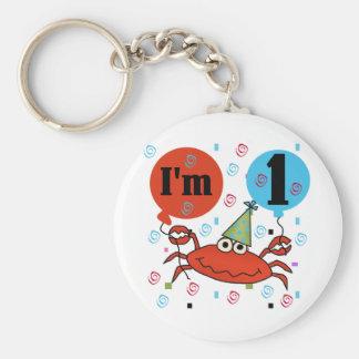 Kratzen Sie 1. Geburtstag T-Shirts und Gfits Schlüsselanhänger