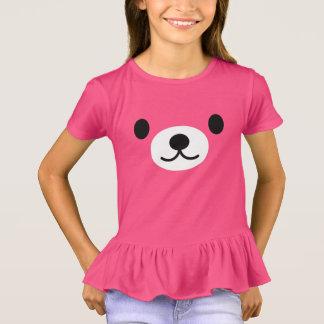 Kräuselt rosa der Teddy-Bär des Mädchens T - Shirt