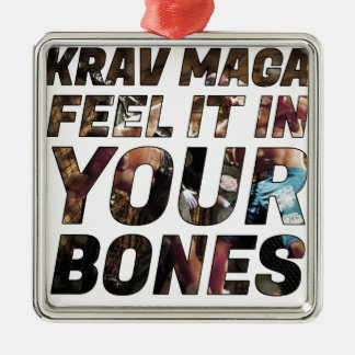 Krav Maga Gefühl es in Ihren Knochen Silbernes Ornament