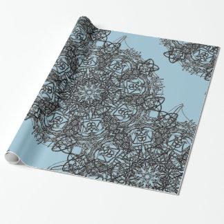 Krawatte blaues einwickelnpapper geschenkpapier