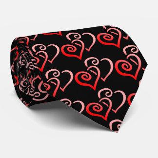 Krawatte der doppelten roten die Wirble