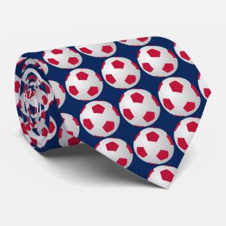 Krawatte, Fußball-Ball, Rot, Weiß und blauer Sport Krawatte
