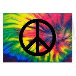 Krawatte gefärbtes schwarzes Friedenszeichen Grußkarten