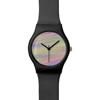 Krawatten-Art-multi Farbe gemischter Hintergrund Armbanduhr