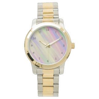 Krawatten-Art-multi Farbe gemischter Hintergrund Uhr
