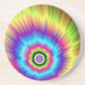 Krawatten-Farbexplosions-Untersetzer Sandstein Untersetzer