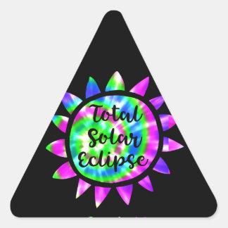 Krawatten-Gesamtsolareklipse-Aufkleber Dreieckiger Aufkleber