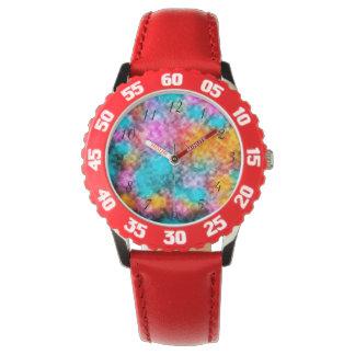 Krawatten-Hintergrund-Armbanduhr Uhr