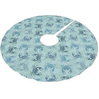Krawatten-Muster der Krabben Polyester Weihnachtsbaumdecke