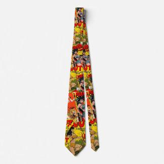 Krawatten-Vintager Comic-Bucheinband kombiniertes Krawatte