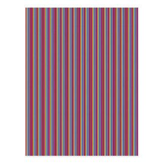 Kreative Linien bunte Streifen der Geschenke der Postkarte