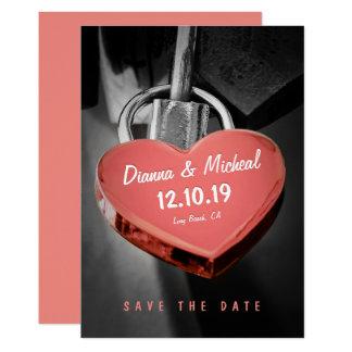 Kreativer Herz-Form-Liebe-Verschluss Save the Date 12,7 X 17,8 Cm Einladungskarte