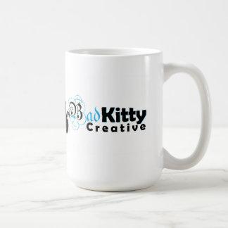 Kreatives Logo der schlechten Miezekatze Kaffeetasse