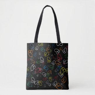 kreatives Muster der bunten Namensinitialen Tasche