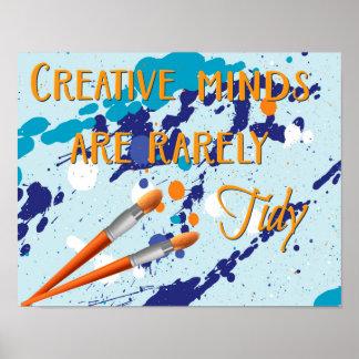 Kreatives Sinnesplakat Poster