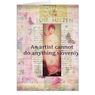 Kreatives Zitat über Künstler durch Jane Austen Grußkarte