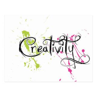 Kreativität Postkarte