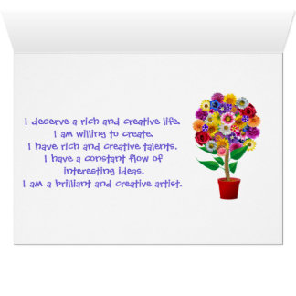 Kreativitäts-Bestätigungs-Karte - tägliches Karte