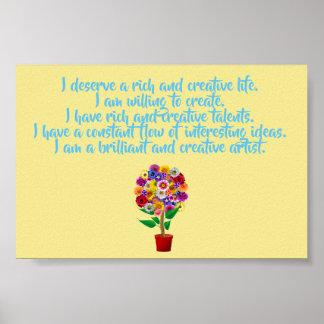 Kreativitäts-Bestätigungs-Plakat - tägliche Poster