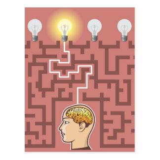 Kreativitäts-Brainstorming-Durchgang durch Postkarte
