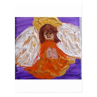 Kreativitäts-Engel Postkarte