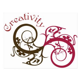Kreativitäts-Strudel-Entwurf Postkarte