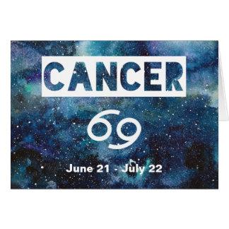 Krebs-Astrologie-blauer Karte