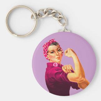 Krebs-Bewusstsein Rosie der Nieteneinschläger Schlüsselanhänger