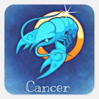 Krebs Quadratischer Aufkleber
