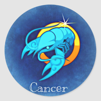 Krebs Runder Aufkleber