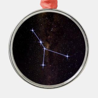 Krebs-Stern-Zeichen Silbernes Ornament
