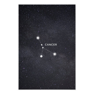 Krebs-Tierkreis-Konstellations-Plakat Poster